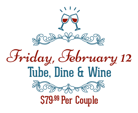 Feb 12, Tune Dine and WIne - $79.99/couple