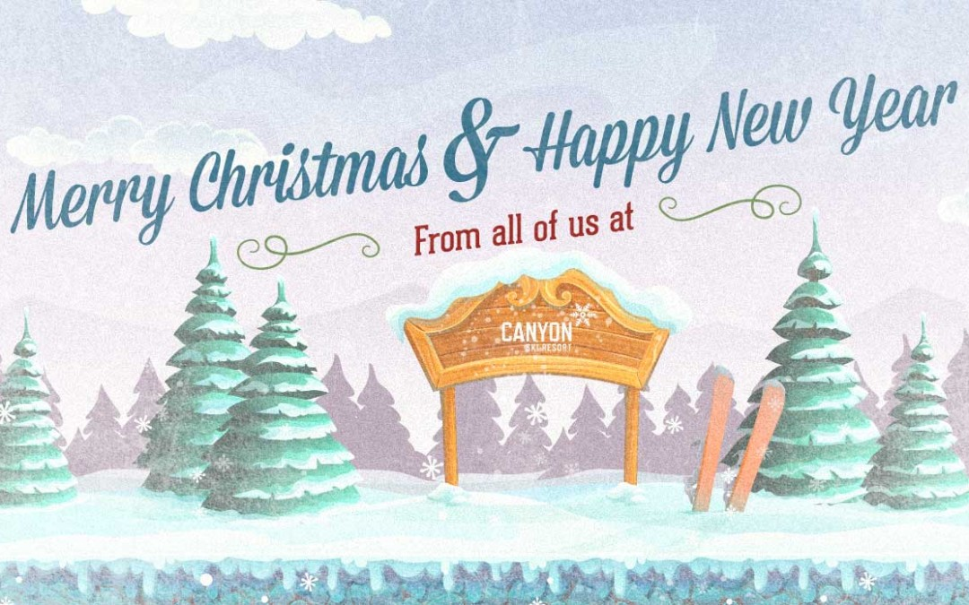 Merry Christmas from your Canyon Ski Resort Family!