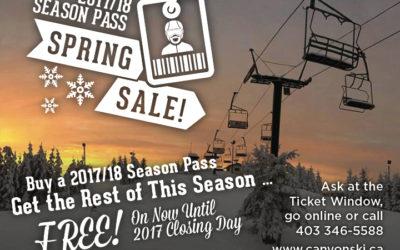 Spring Season Pass Sale-Ski the rest of the Season for FREE!!!