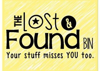 Have you lost something at Canyon this season?