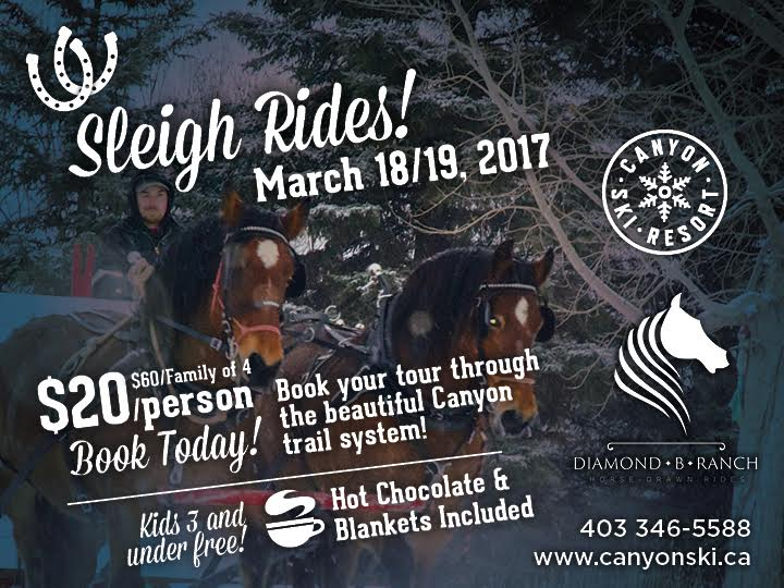 Canyon Sleigh Rides- 1 Weekend ONLY March 18/19th!!