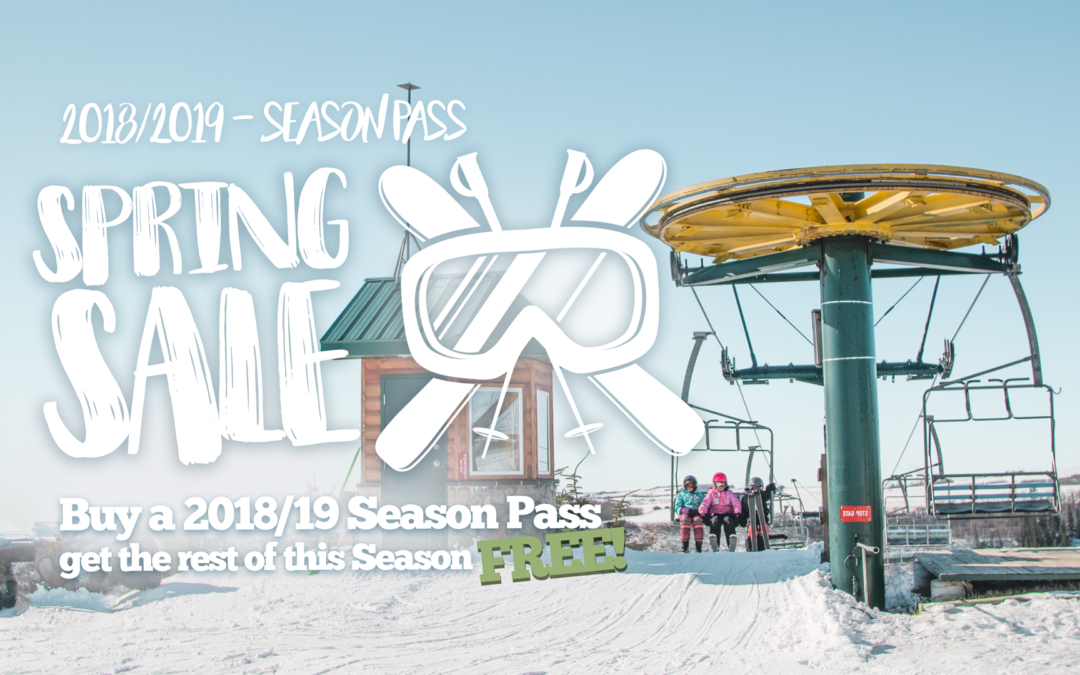 Spring Season Pass Sale (Ski the rest of this Season for FREE!!!)