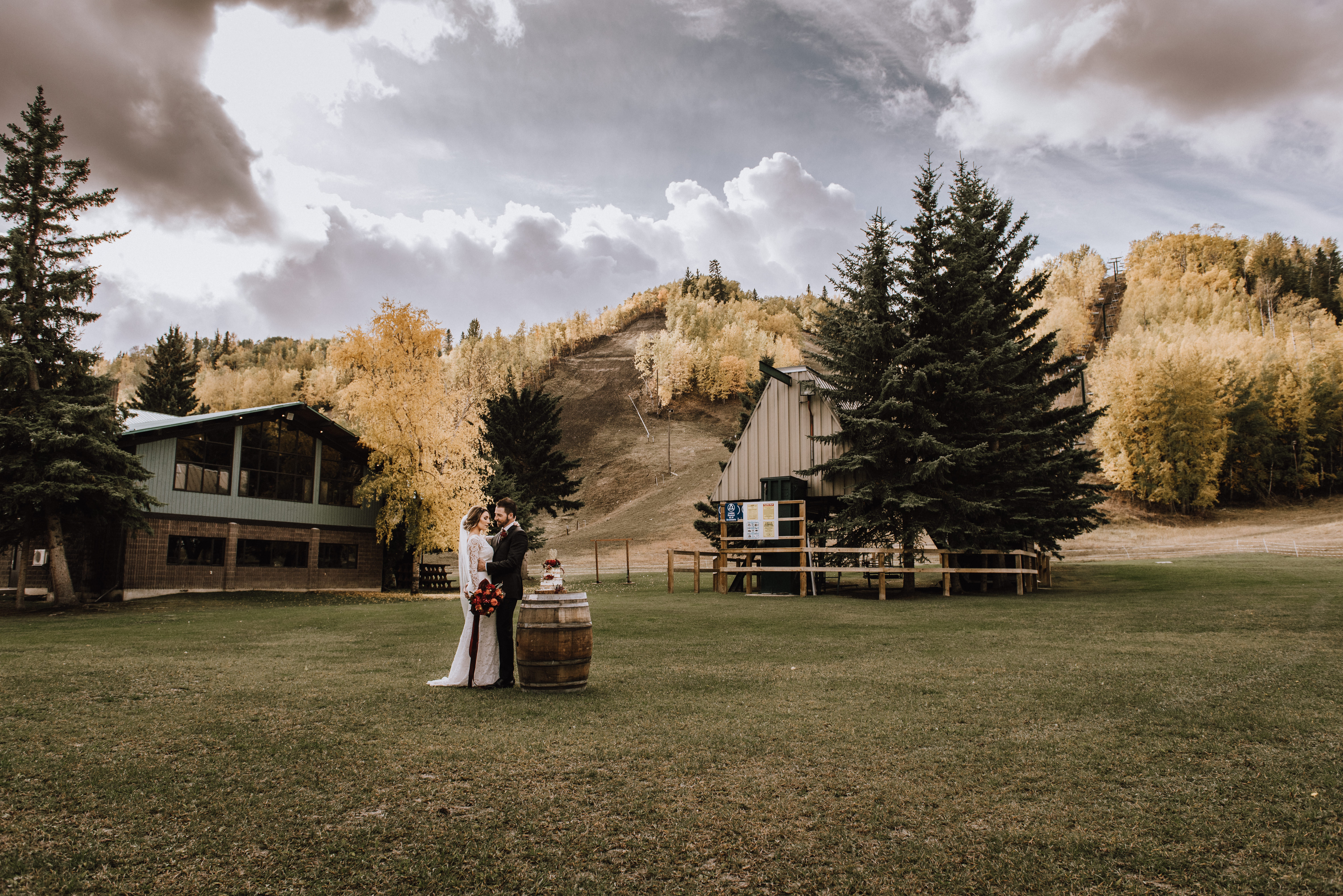 Red Deer Elopement Canyon Ski
