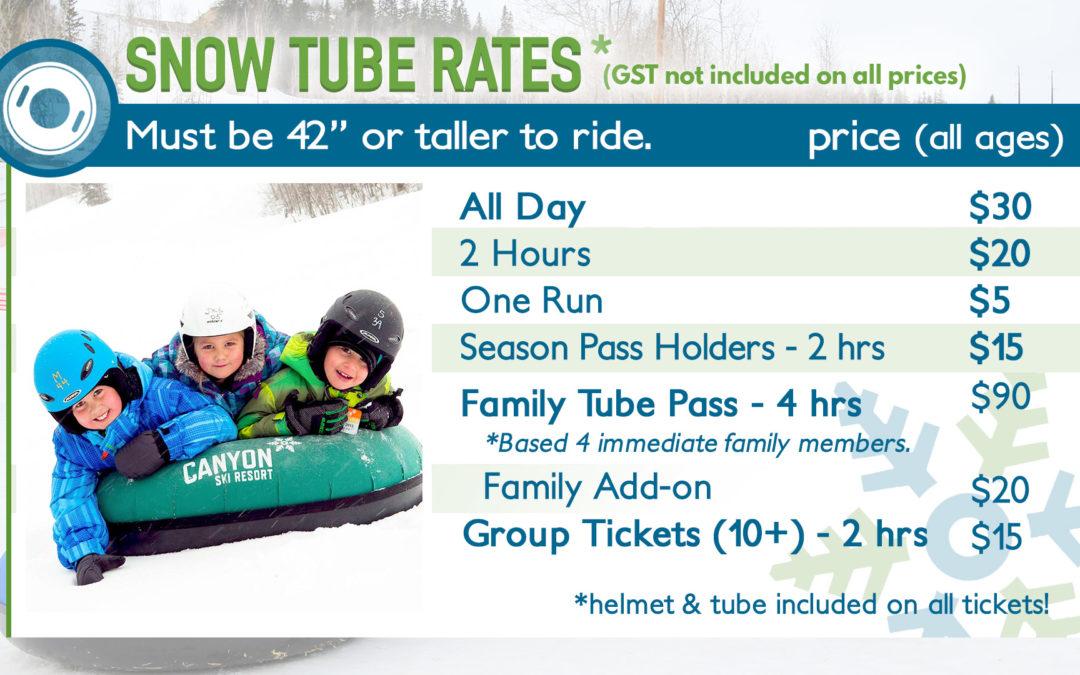 Tube Park Hours